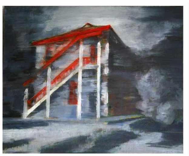 這座油漆了紅色的獨立小樓,就是三廳遺址