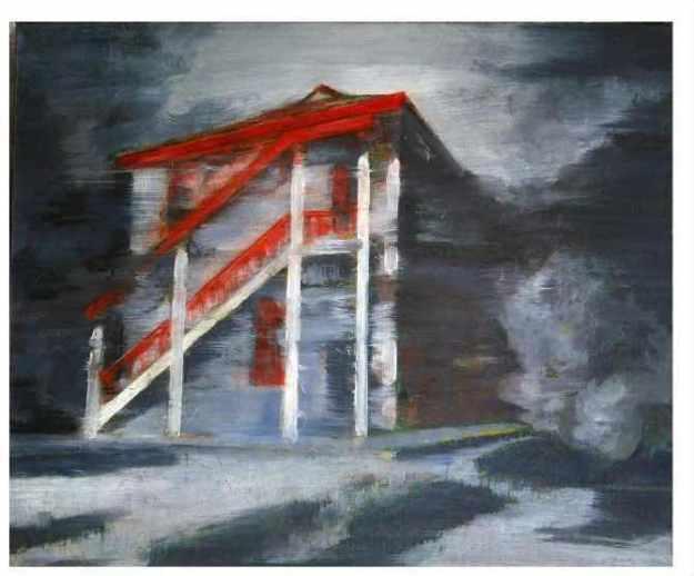 這座油漆了紅色的獨立小樓,就是八辦遺址