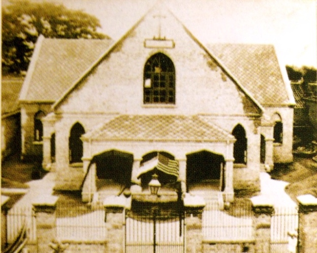 百年前老教堂的老照片,西式建築