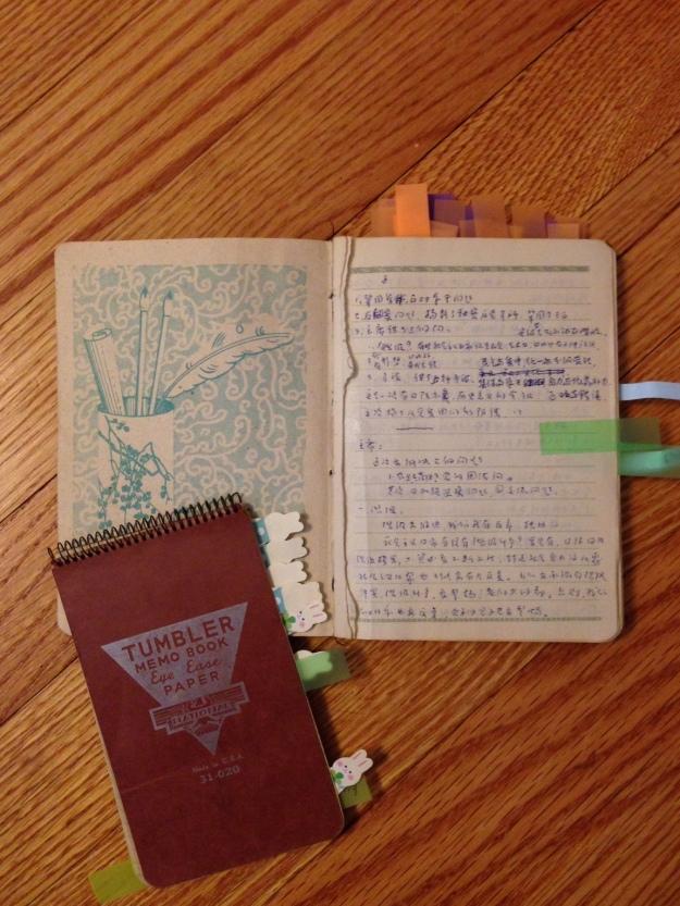 兩個小筆記本,記錄了1963年多次會議